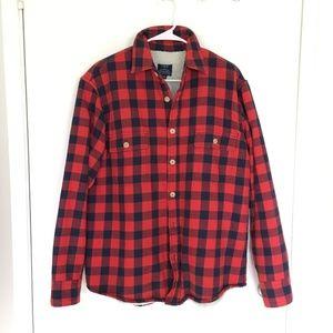 J. Crew plaid sherpa-lined shirt